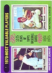 1975 Topps #208 Boog Powell/Johnny Bench MVP
