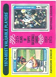 1975 Topps #212 Jeff Burroughs/Steve Garvey MVP