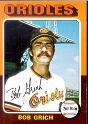 1975 Topps #225 Bob Grich