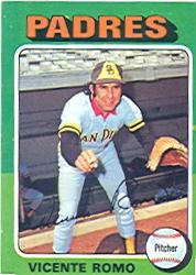 1975 Topps #274 Vicente Romo