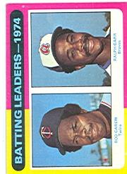1975 Topps #306 Batting Leaders/Rod Carew/Ralph Garr
