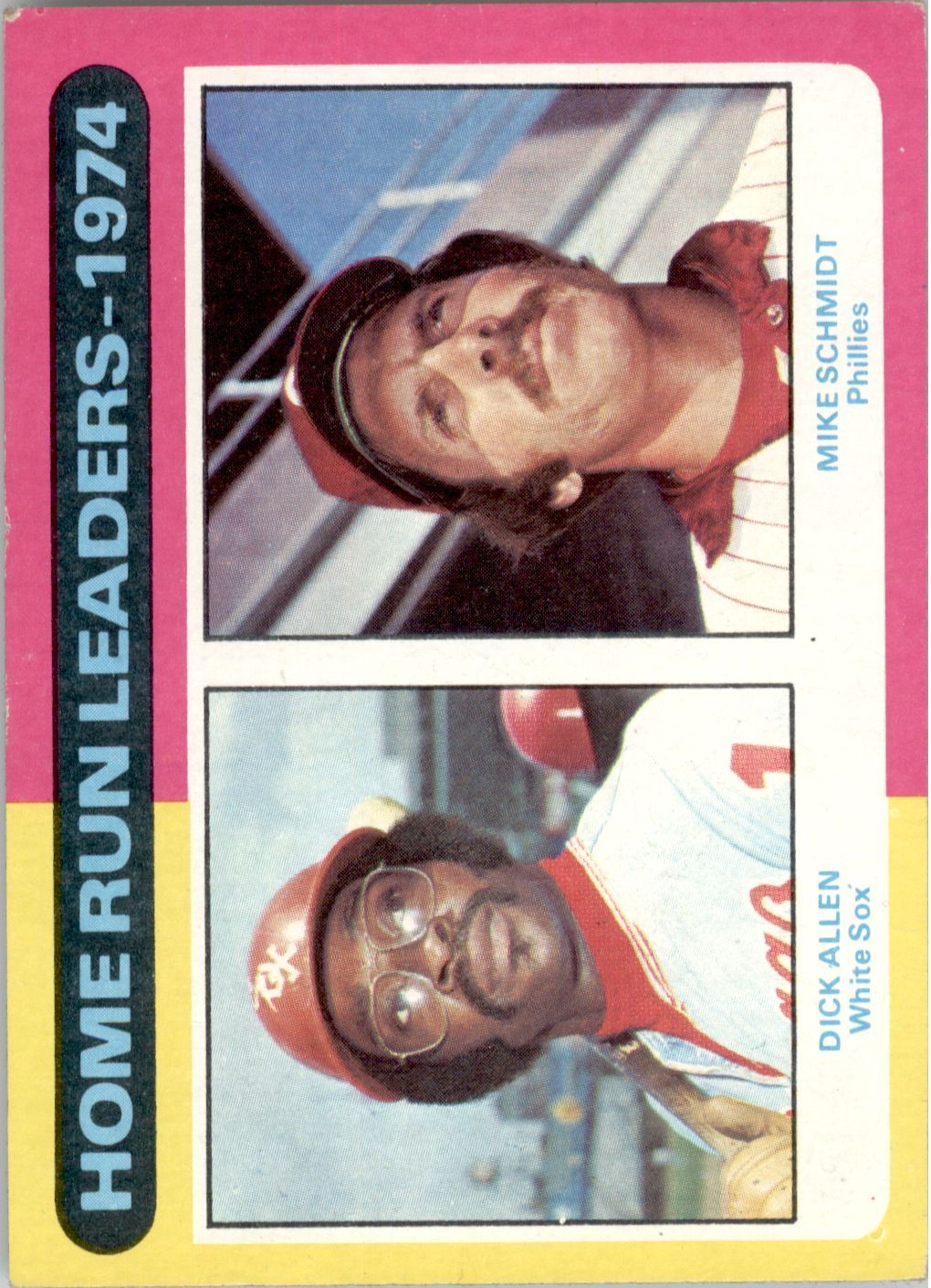 1975 Topps #307 Home Run Leaders/Dick Allen/Mike Schmidt