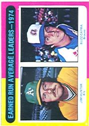 1975 Topps #311 ERA Leaders/Jim Hunter/Buzz Capra