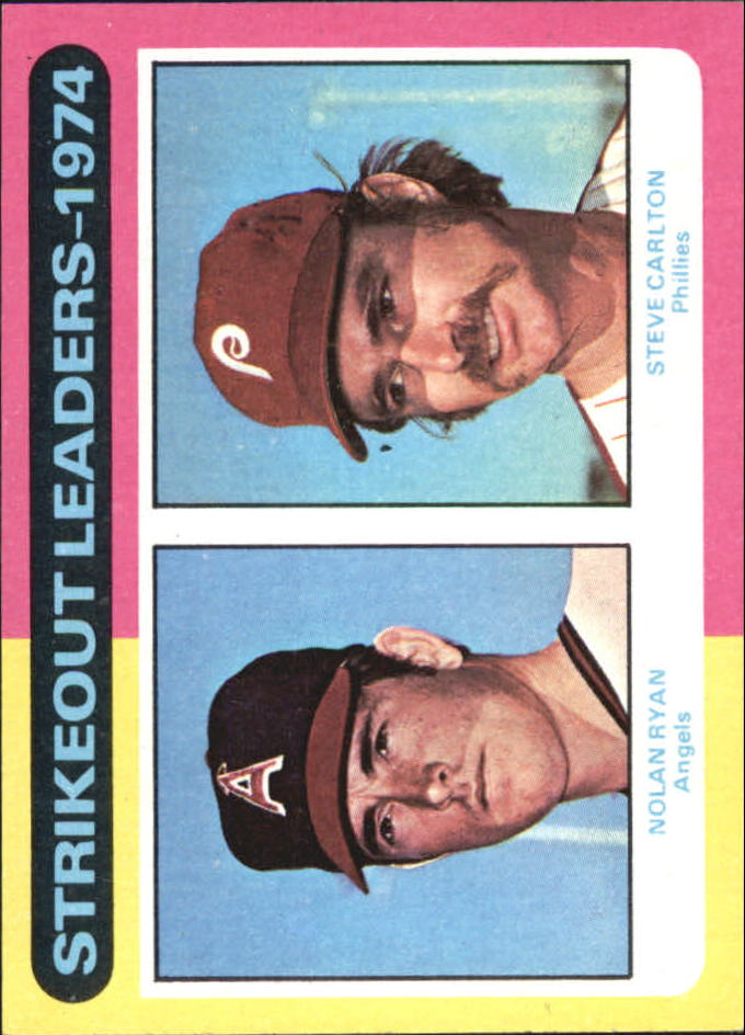 1975 Topps #312 Strikeout Leaders/Nolan Ryan/Steve Carlton
