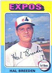 1975 Topps #341 Hal Breeden