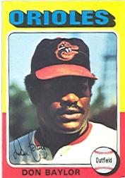1975 Topps #382 Don Baylor