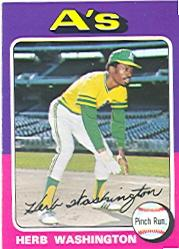 1975 Topps #407 Herb Washington RC