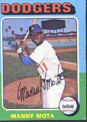 1975 Topps #414 Manny Mota