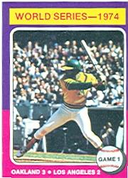 1975 Topps #461 World Series Game 1/Reggie Jackson