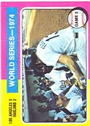 1975 Topps #462 World Series Game 2/Walter Alston/Joe Ferguson