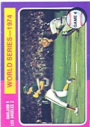1975 Topps #464 World Series Game 4/A's Batter
