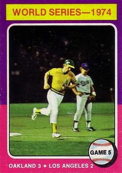 1975 Topps #465 World Series Game 5/Joe Rudi