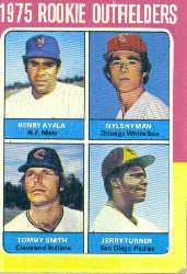 1975 Topps #619 Rookie Outfielders/Benny Ayala RC/Nyls Nyman RC/Tommy Smith/Jerry Turner RC