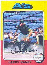 1975 Topps #626 Larry Haney UER/Photo actually/Dave Duncan