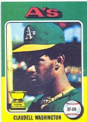 1975 Topps #647 Claudell Washington RC