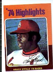 1975 Topps Mini #2 Lou Brock HL/118 Stolen Bases