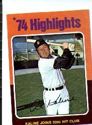 1975 Topps Mini #4 Al Kaline HL/3000 Hit Club