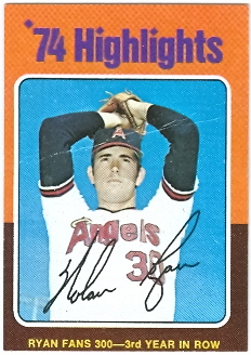 1975 Topps Mini #5 Nolan Ryan HL/Fans 300 for/3rd Year in a Row