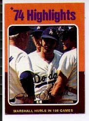1975 Topps Mini #6 Mike Marshall HL/Hurls 106 Games