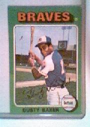 1975 Topps Mini #33 Dusty Baker
