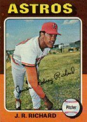 1975 Topps Mini #73 J.R. Richard