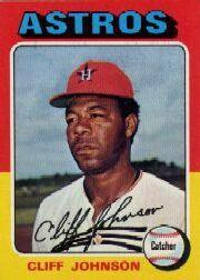 1975 Topps Mini #143 Cliff Johnson
