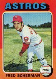 1975 Topps Mini #252 Fred Scherman