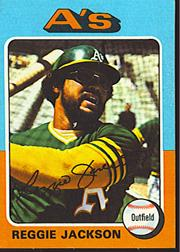 1975 Topps Mini #300 Reggie Jackson
