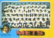 1975 Topps Mini #421 New York Mets CL/Yogi Berra MG