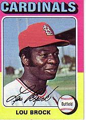 1975 Topps Mini #540 Lou Brock