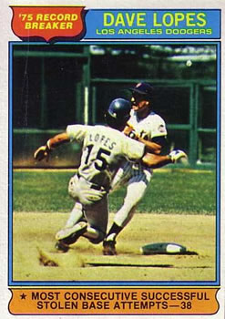 1976 Topps #4 Dave Lopes RB