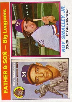 1976 Topps #70 Roy Smalley FS/Roy Smalley Jr.