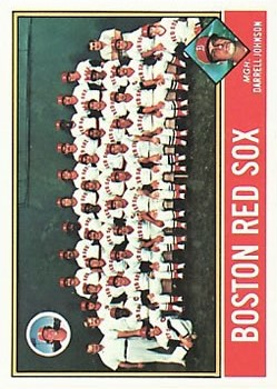 1976 Topps #118 Boston Red Sox CL/Darrell Johnson MG