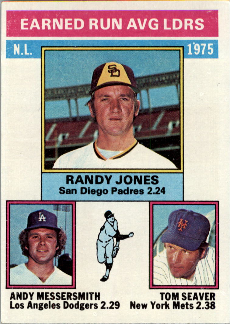 1976 Topps #201 NL ERA Leaders/Randy Jones/Andy Messersmith/Tom Seaver