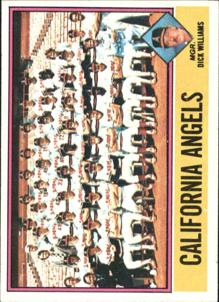 1976 Topps #304 California Angels CL/Dick Williams MG