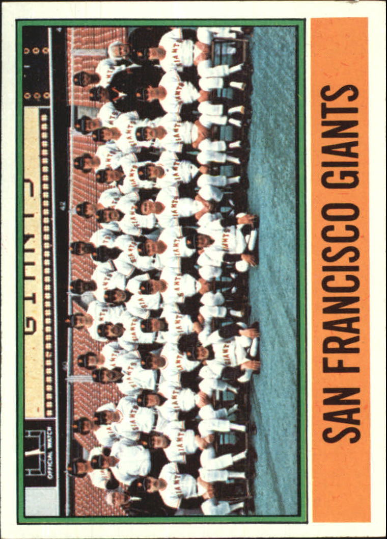 1976 Topps #443 San Francisco Giants CL/(No Manager on front