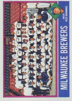 1976 Topps #606 Milwaukee Brewers CL/Alex Grammas MG