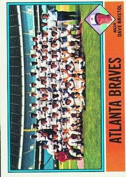 1976 Topps #631 Atlanta Braves CL/Dave Bristol MG