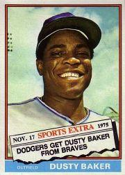 1976 Topps Traded #28T Dusty Baker