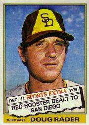 1976 Topps Traded #44T Doug Rader