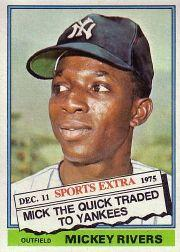 1976 Topps Traded #85T Mickey Rivers