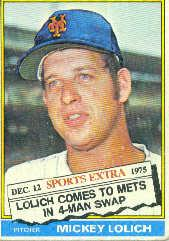 1976 Topps Traded #385T Mickey Lolich