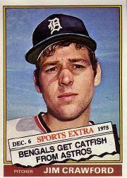 1976 Topps Traded #428T Jim Crawford