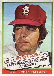 1976 Topps Traded #524T Pete Falcone