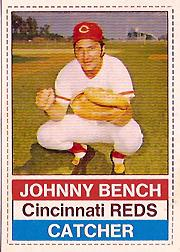 1976 Hostess #22 Johnny Bench