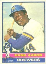 1976 O-Pee-Chee #550 Hank Aaron