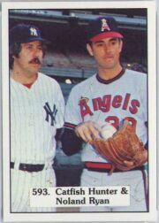 1976 SSPC #593B Jim Hunter/Nolan Ryan CL COR