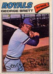 1977 Topps Cloth Stickers #7 George Brett