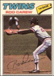 1977 Topps Cloth Stickers #10 Rod Carew SP