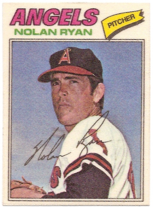 1977 Topps Cloth Stickers #40 Nolan Ryan SP